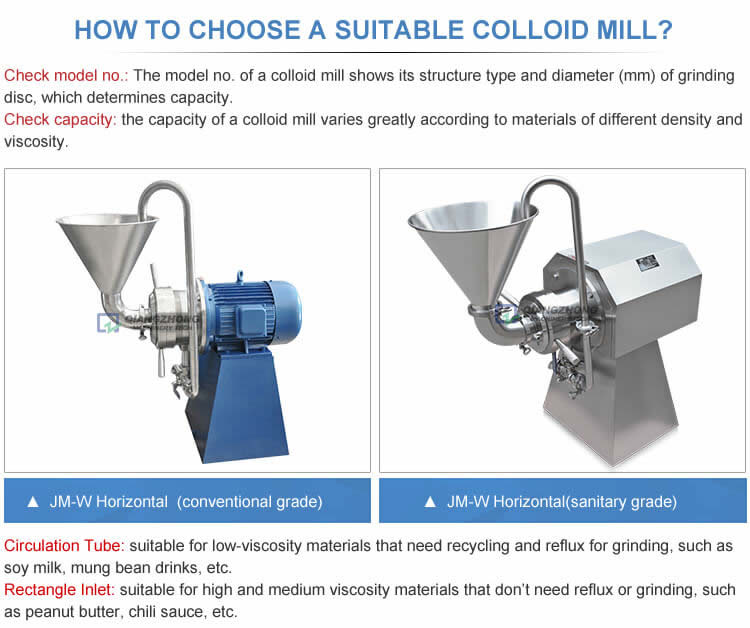 HOW TO CHOOSE A SUITABLE COLLOID MILL?
