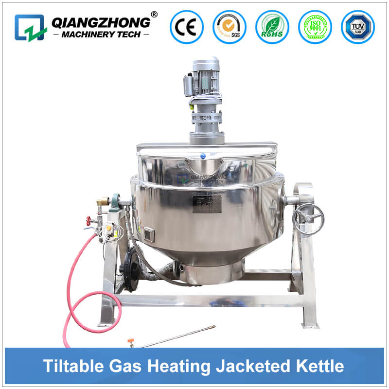 Tiltable Gas Heating Jacketted Kettle